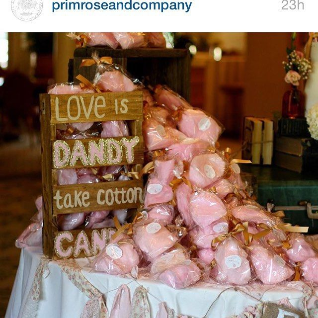 The Cotton Candy Confectionery wedding favor display