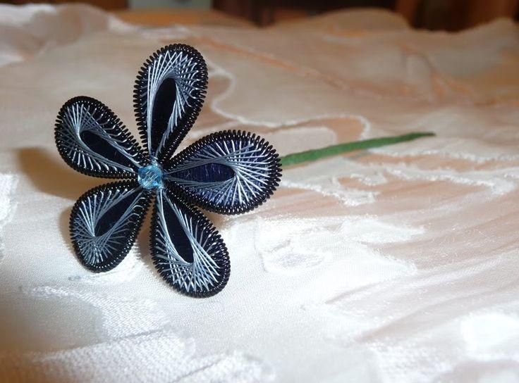 Ganutell Blossoms: Blue Embellished Flower