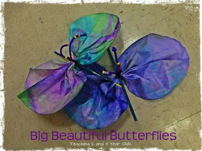 Big, beautiful butterflies! - Teaching 2 and 3 Year Olds