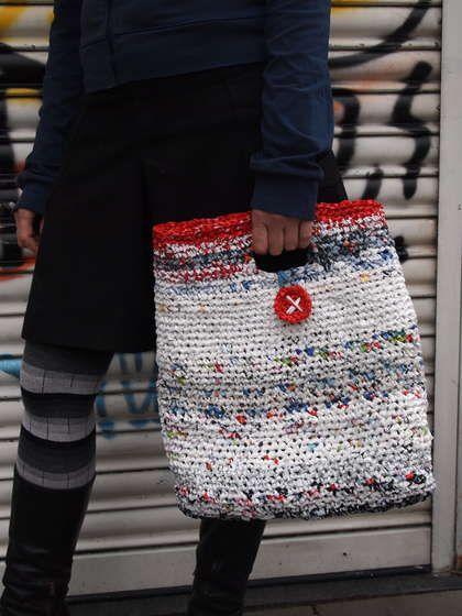 crochet a plastic bag groc bag