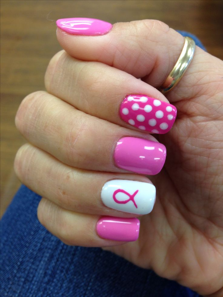 Breast Cancer Awareness Nails | breast cancer nail designs ...