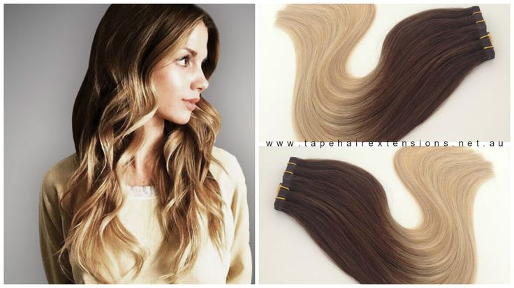 Brown To Blonde Russian Grade Hair Extensions  2/22  www.tapehairextensions.net.au
