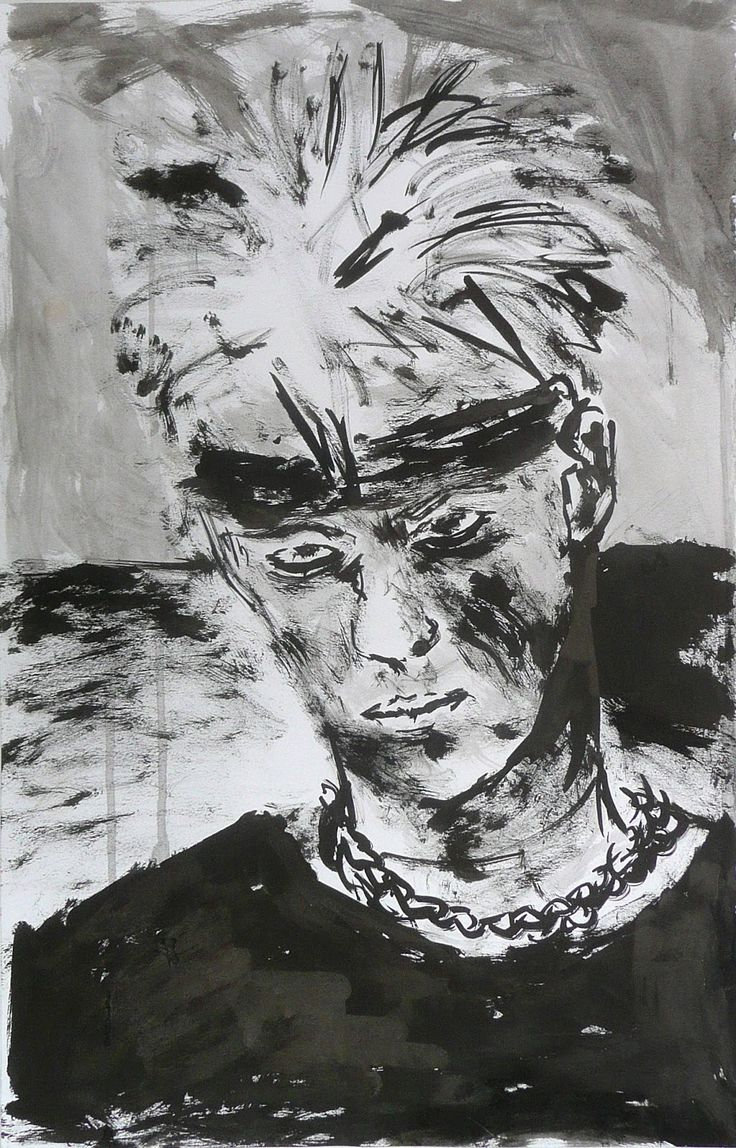 Pieter Drift, Zelfportret met zwarte band (1988)