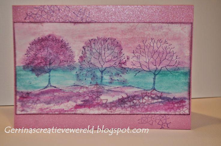 Gerrina's Creatieve Wereld: Fantasie landschap / fantasy landscape