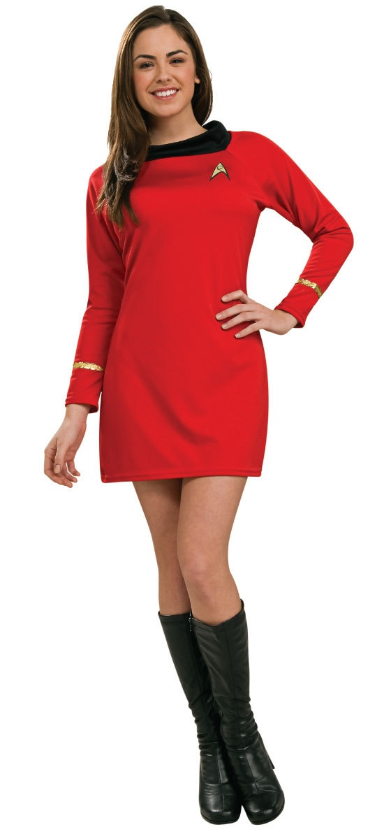 Secret Wishes Star Trek Classic Deluxe Red Dress, Adult Medium Rubie's  Costume Co