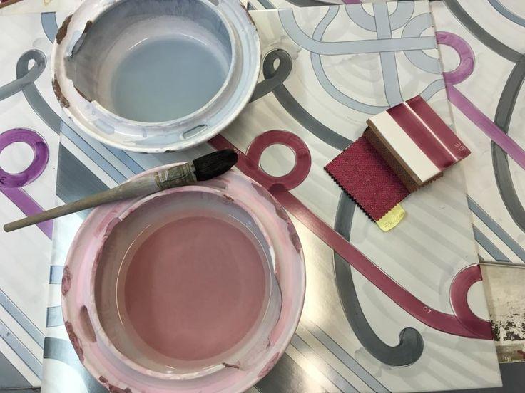La #DecorazioneDiAudrey  #CollezioneFoulards #CeramicaFrancescoDeMaio