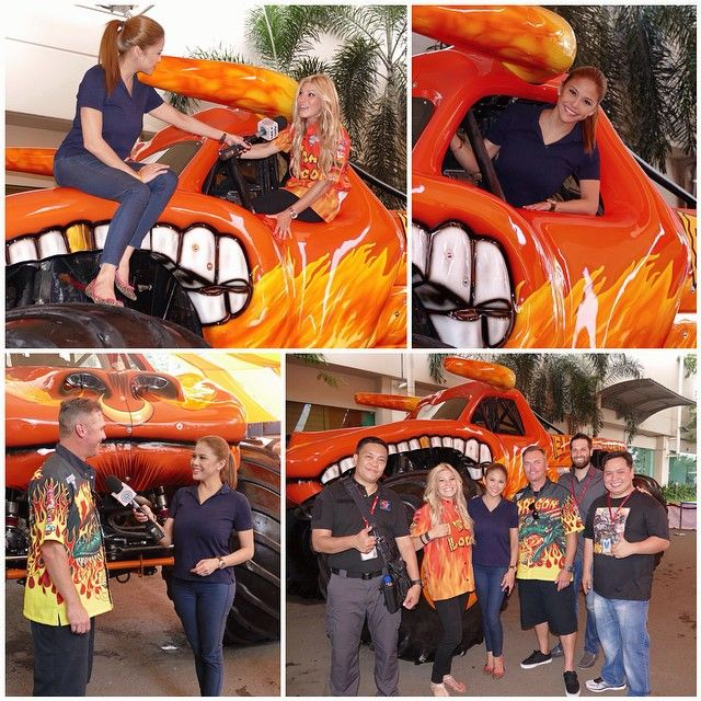 Woohoo! My 1st time to ride a Monster Jam Truck!  Meet #ElToroLoco & drivers Cynthia, Scott & the peeps behind #MonsterJam! Catch my fun interview with them later & find out what it's like to be inside the Monster Jam Truck on #tvpatrol #taragrets #starpatrol  @monsterjam_official