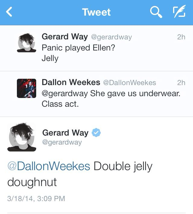 I like that they interact now because if irc, a loooong time ago MCR used to make digs at p!atd during the afycso era