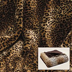 Leopard Print Faux Fur Throw - Overstock™ Shopping - Great Deals on Throws