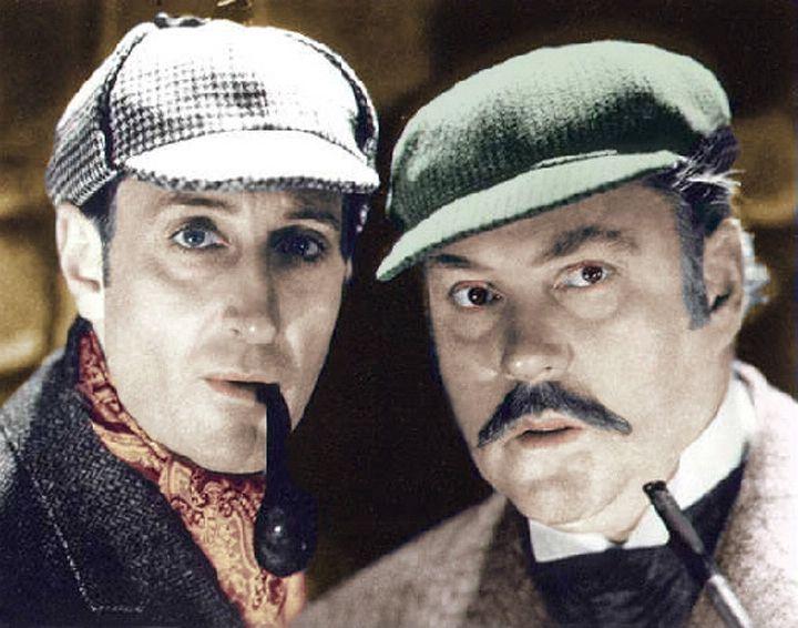 Rathbone And Bruce As Holmes And Watson Sherlock Holmes Holmes Sherlock