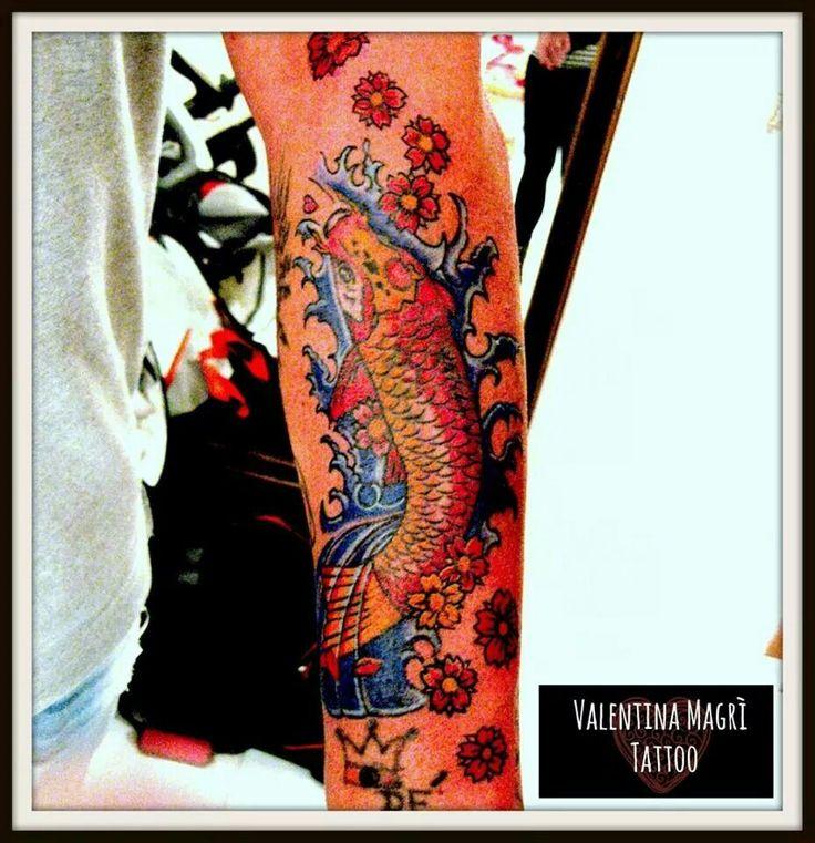 Carpa tattoo by Valentina Magrì