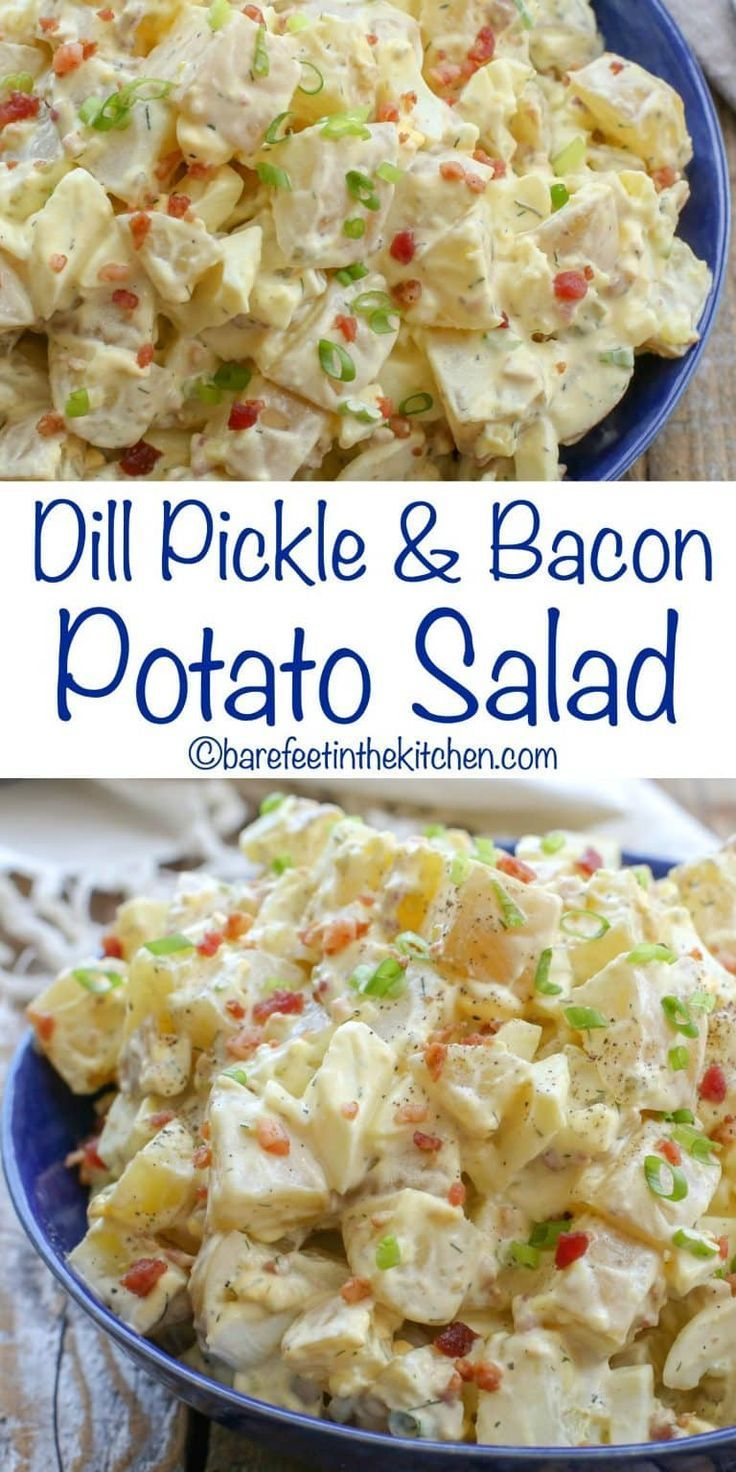 You're going to love this Dill Pickle and Bacon Potato Salad – get the recipe at…