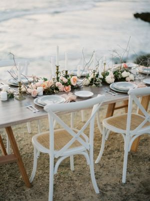 Beach Wedding Table | photography by http://www.katiegrantphoto.com