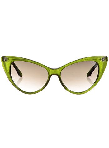 Cateye Sunglasses in Lime Soda at PLASTICLAND