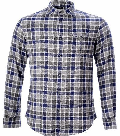 Armani Jeans Shirt Armani Jeans Shirt a blue a grey check shirt from Armani Jeans. The shirt is fastened with small dark Armani Jeans buttons and has one breast pocket embroidered with the AJ in the corner and fastened  http://www.comparestoreprices.co.uk/designer-shirts/armani-jeans-shirt.asp