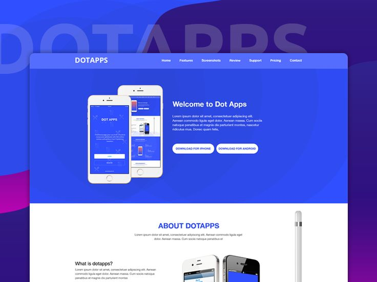 Dotapps - App Landing Page Template by Ruhul Amin