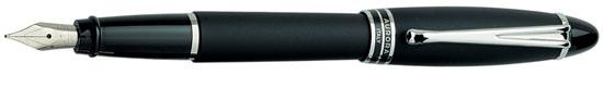 Aurora Ipsilon Satin Black with Black Rings Medium Point Fountain Pen