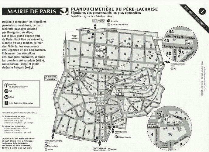 4. NOUVEAUX PLANS du PERE-LACHAISE 1ere partie