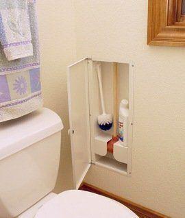 Hy-Dit Plunger & Cleaning Brush Storage Cabinet, http://www.amazon.com/dp/B002AQBAG0/ref=cm_sw_r_pi_awdl_pMfIsb1BYTV33