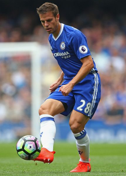César Azpilicueta of Chelsea in action during the Premier League match between…