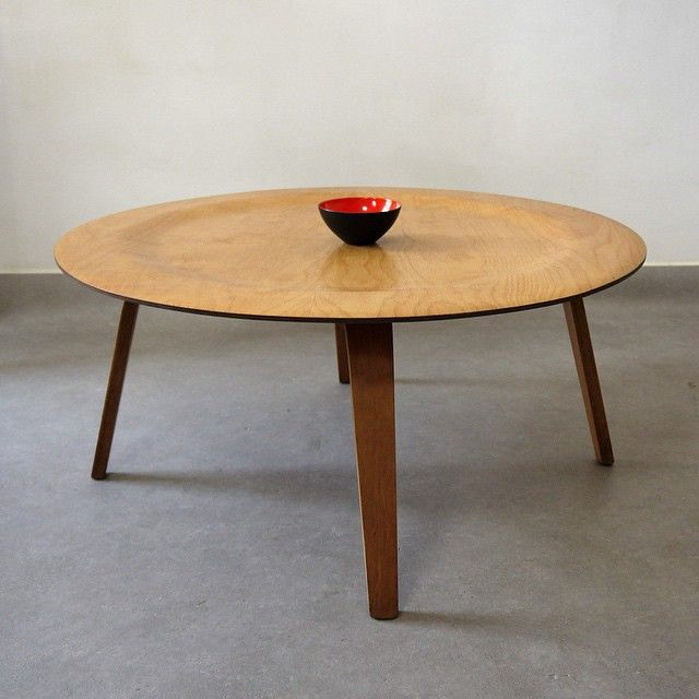 For Sale. Charles and Ray Eames 1950s CTW table. Classic molded plywood coffee table. Birch construction with freat grain and golden patina. H. 39cm. D. 86cm. rjb.adam@gmail.com