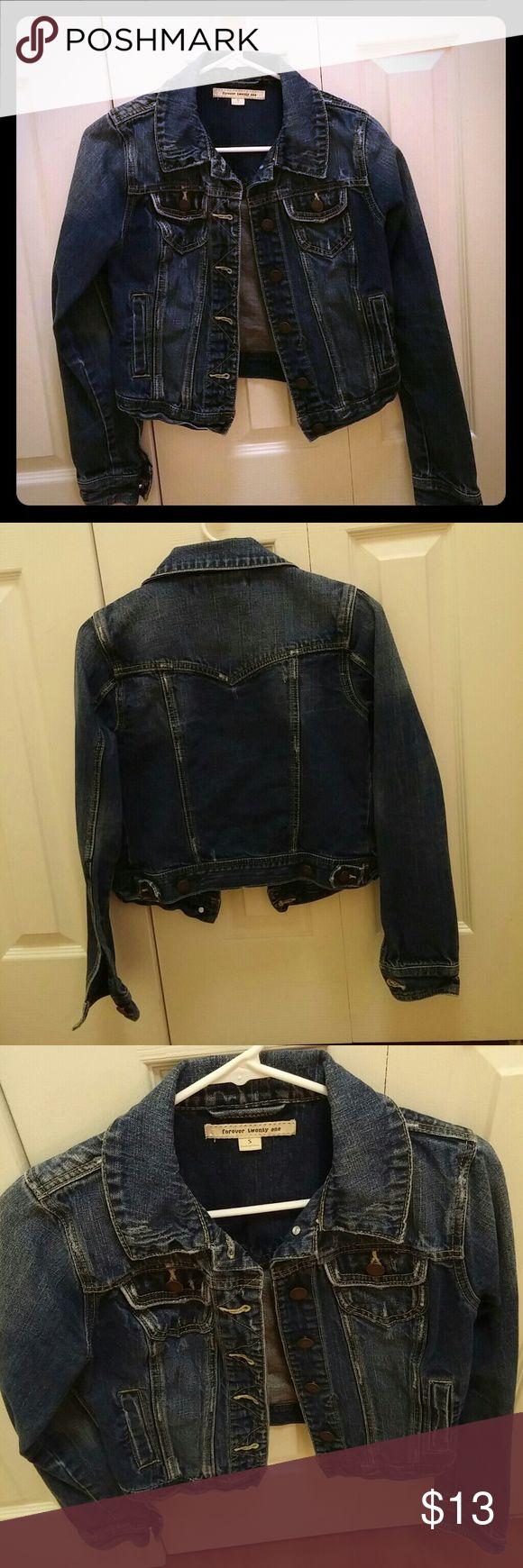 Jean jacket Dark denim jean jacket Forever 21 Jackets & Coats Jean Jackets