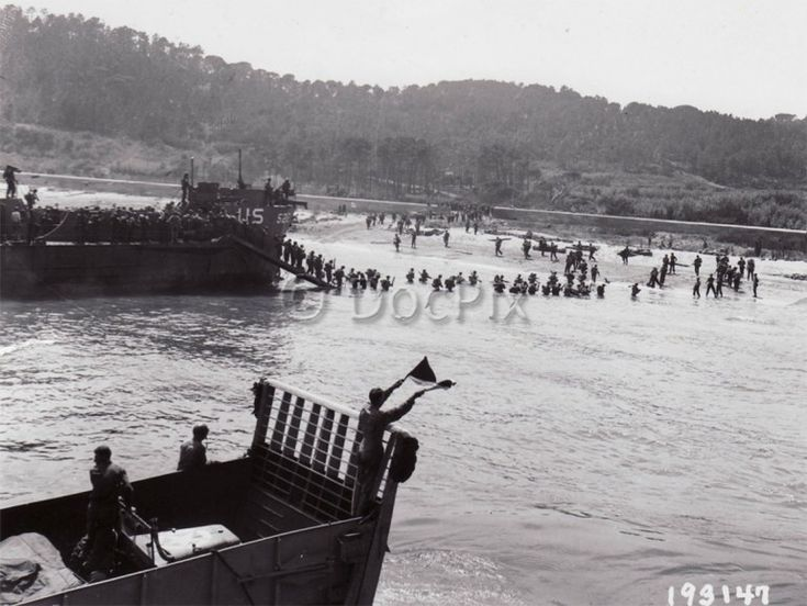 The Allied invasion of southern France on 15 August 1944.
