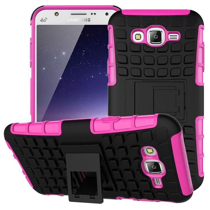 Armor Rugged Hybrid Hard PC TPU Rubber Soft ShockProof Phone Case Cover Cove For Samsung Samsu Sumsang Galaxy J7 J700 2015 J 7