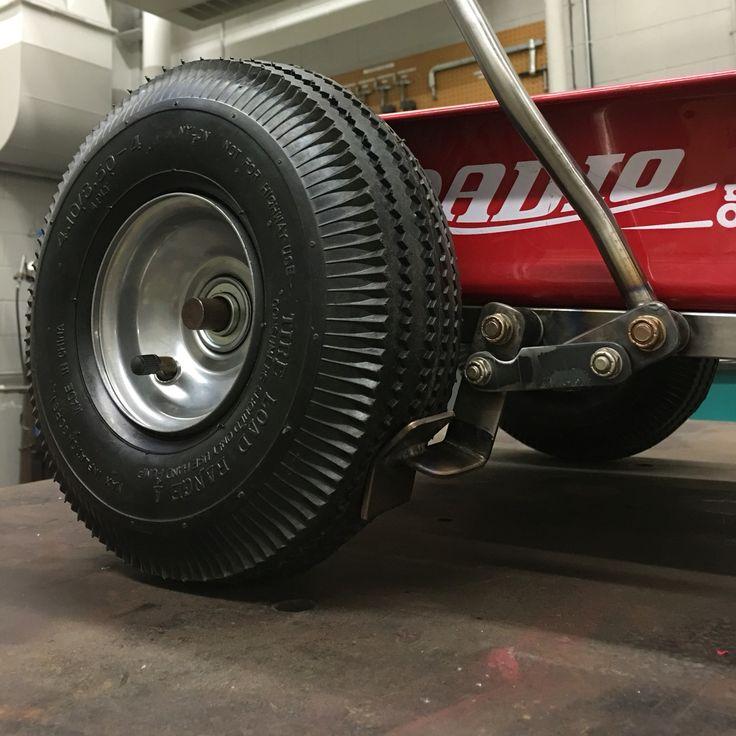 Hot rod Radio Flyer Wagon hand brake assembly