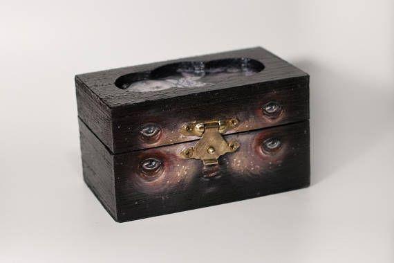 Coffin  Wood Box / Jewelery Art Box