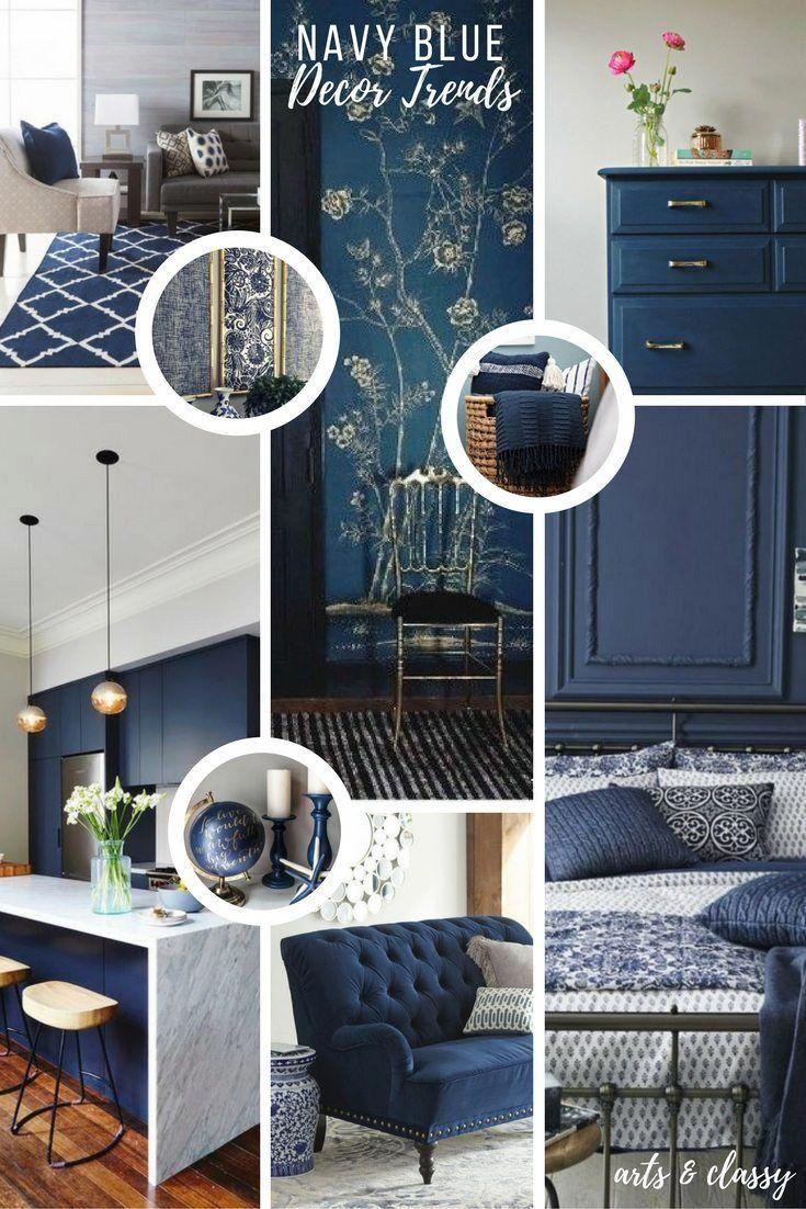 Navy Blue Interior Decor Trends Inspiration Arts And Cly Decoraciónhabitaciones
