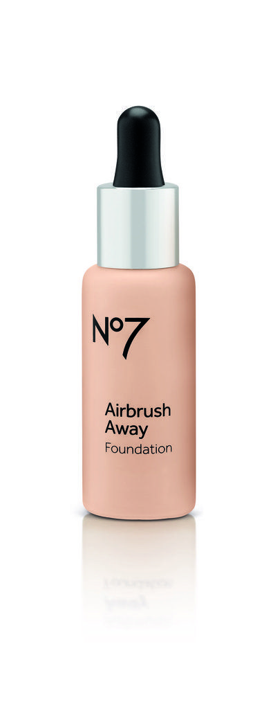 No7 Airbrush Away Foundation | The ultralight texture of this foundation smoothes on flawlessly without sitting in (and drawing attention to) wrinkles and enlarged pores. Because the bottle features a dropper, you'll never squirt out too much product — just a few drops can cover your whole face.