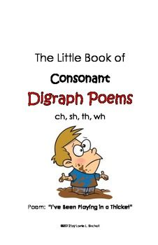 Mini-reader of 8 poems with consonant #digraphs.