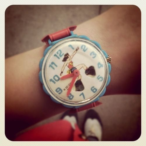 Wonder Woman Watch.  I'd do many things to have such a watch.