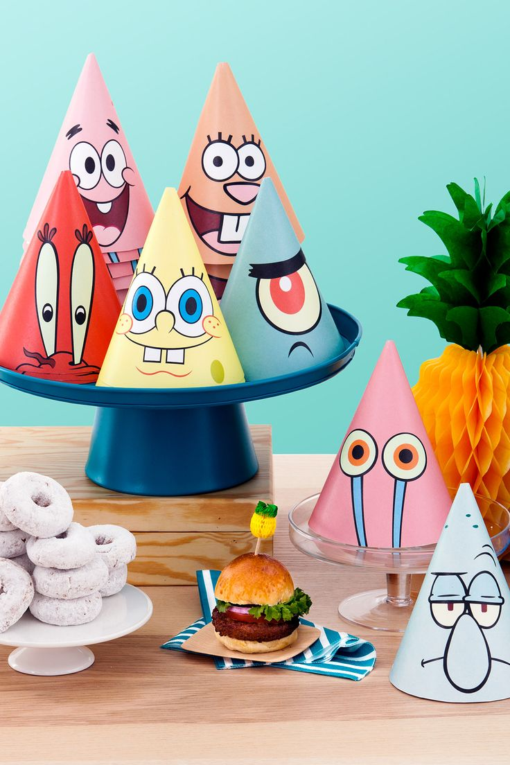 SpongeBob Printable Party Hats