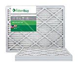 AFB Silver MERV 8 20x24x1 Pleated AC Furnace Air Filter. Pack of 4 Filters. 100% produced in the USA.