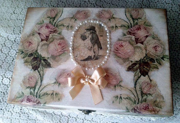 Cutie de bijuterii ''Vintage roses''