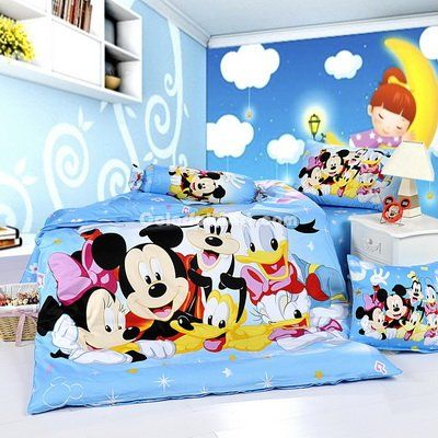 He is one of the world's most famous and beloved movie stars. For a mouse, he's done pretty well. Mickey Mouse, let us go back to childhood ;) >> Mickey Mouse Bedding --> http://www.colorfulmart.com/mickey-mouse-friends-sky-blue-disney-bedding-sets-p-1042.html