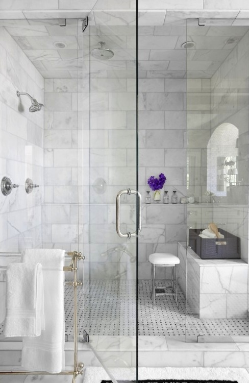 //shower//: Bathroom Design, Shower Design, Shower Doors, Marbles Shower, Masterbath, Subway Tile, Master Bath, Shower Tile, Bathroom Shower