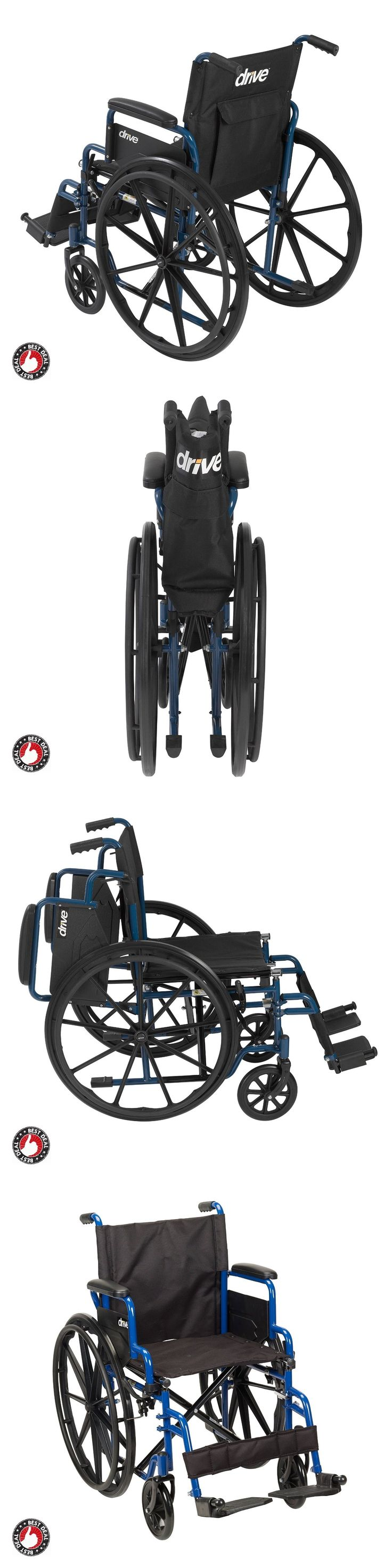 Electric bike adaption for wheel chair youtube - Wheelchairs Lightweight Folding Wheelchair For Seniors Adults Manual Disability Equipment Buy It Now