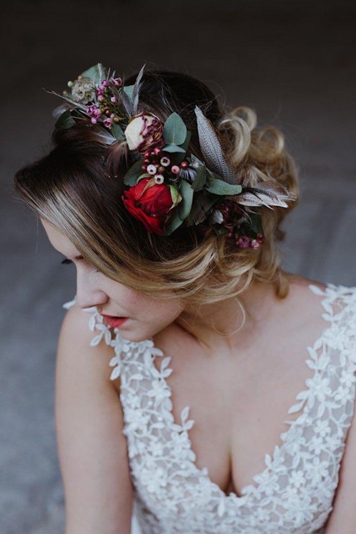 Couronne de fleurs séchées Mariage Eléonore M