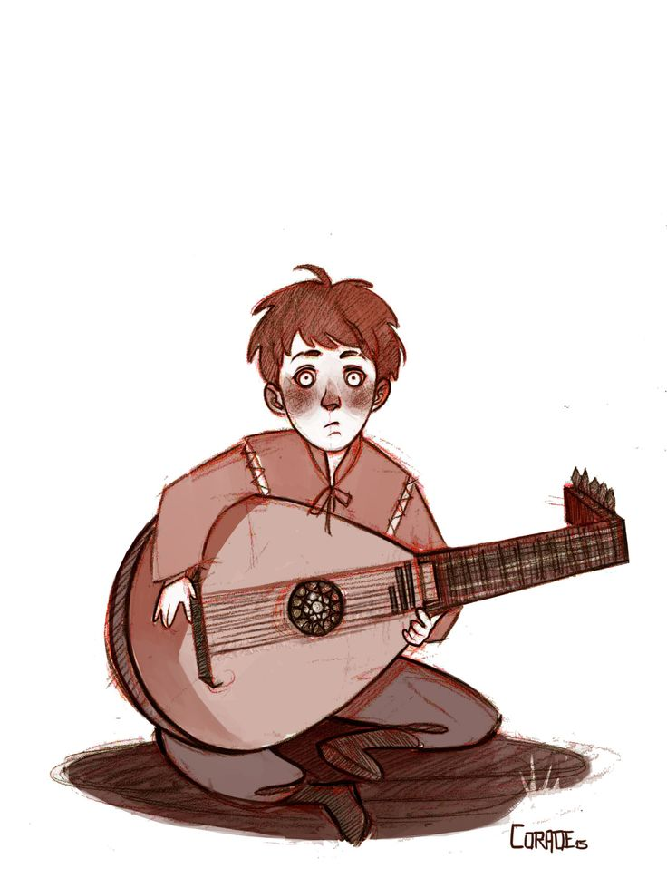 Hi there Kvothy :3 I like to think that he looked this cute when he first held a lute.