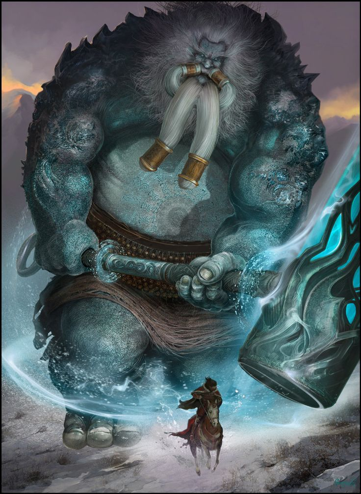 Gigante Ser fabuloso de enorme estatura, que aparece en cuentos y fábulas mitológicas.