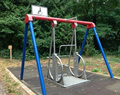 Wheelchair fun - every town should have at least one of these in at least one of their parks.