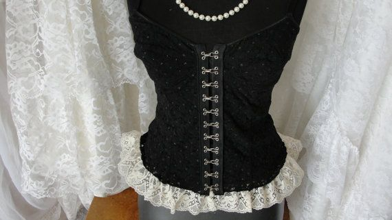 Vintage lingerie corset cami by SummersBreeze on Etsy