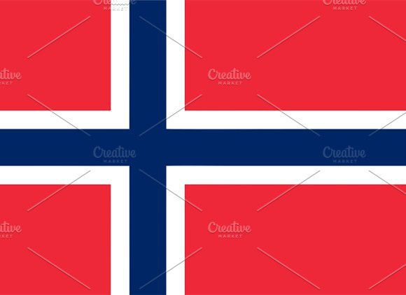 Flag or Norway. Europe #flags