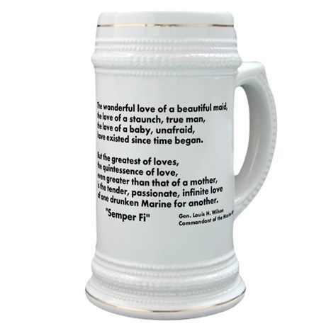 Usmc Birthday Stein Stein on CafePress.com