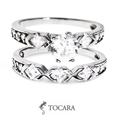 Tocara stacked Megan ring | DiAmi - Stainless steel