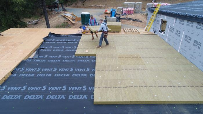 Installing Rockwool For Continuous Exterior Insulation Fine Homebuilding Exterior Insulation Building A House Insulation