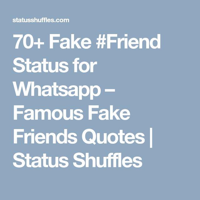 Die besten 25 fake friends status ideen auf pinterest for Whatsapp status ideen